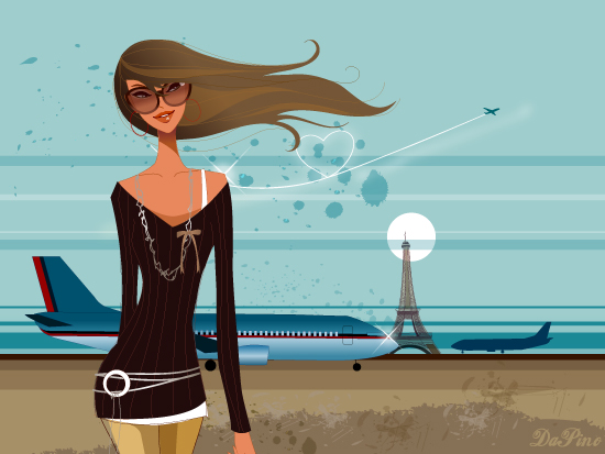 "Vector Wallpaper Loving Paris. Vector Wallpaper ""Loving Paris"""
