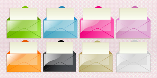 Transparant Mail Icons