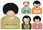 DaPino's People Icons - Afro Men